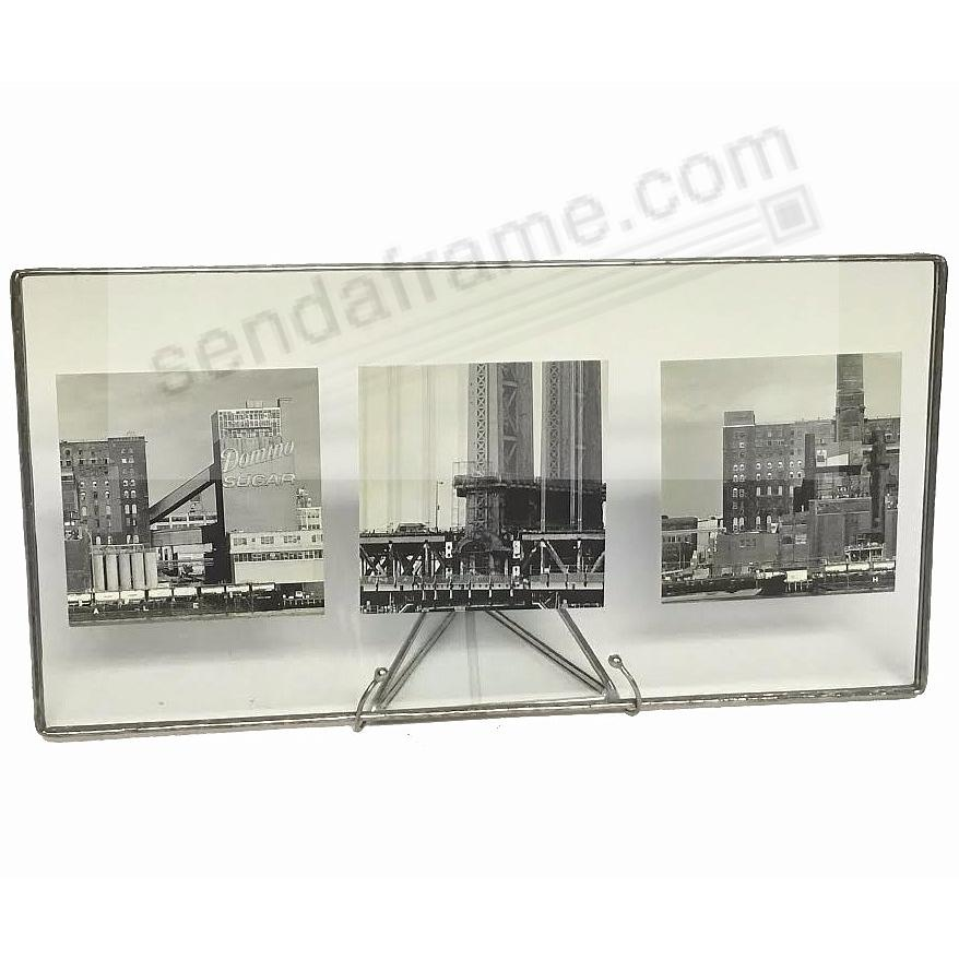 SILVER + Clear Glass Float Frame 11x5½/10x4 by Bedford Downing ...