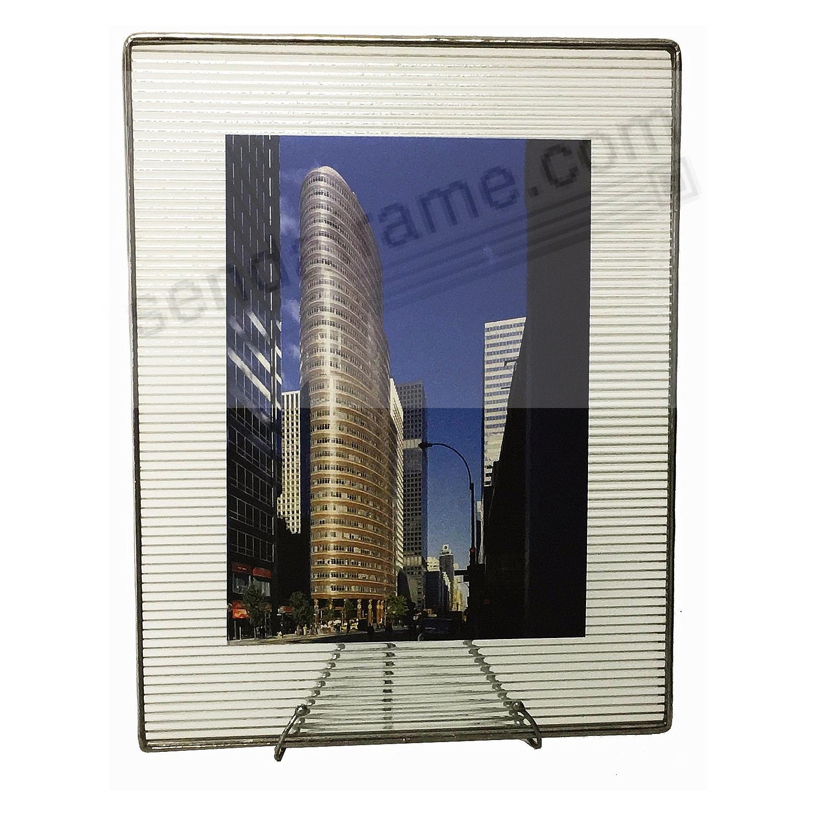 RIBBED PATTERN Glass Float Frame 9x11/8x10 Silver by Bedford Downing ...