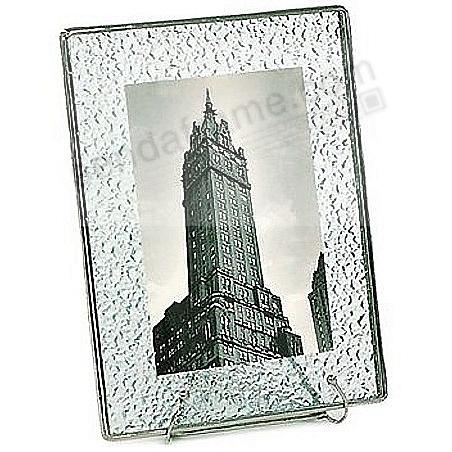 Sparkle-Pattern Glass Float Frame 5x6½/4x6 Silver by Bedford Downing®