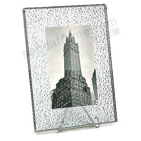 Sparkle-Pattern Glass Float Frame 5x7/7x9 Silver by Bedford Downing®