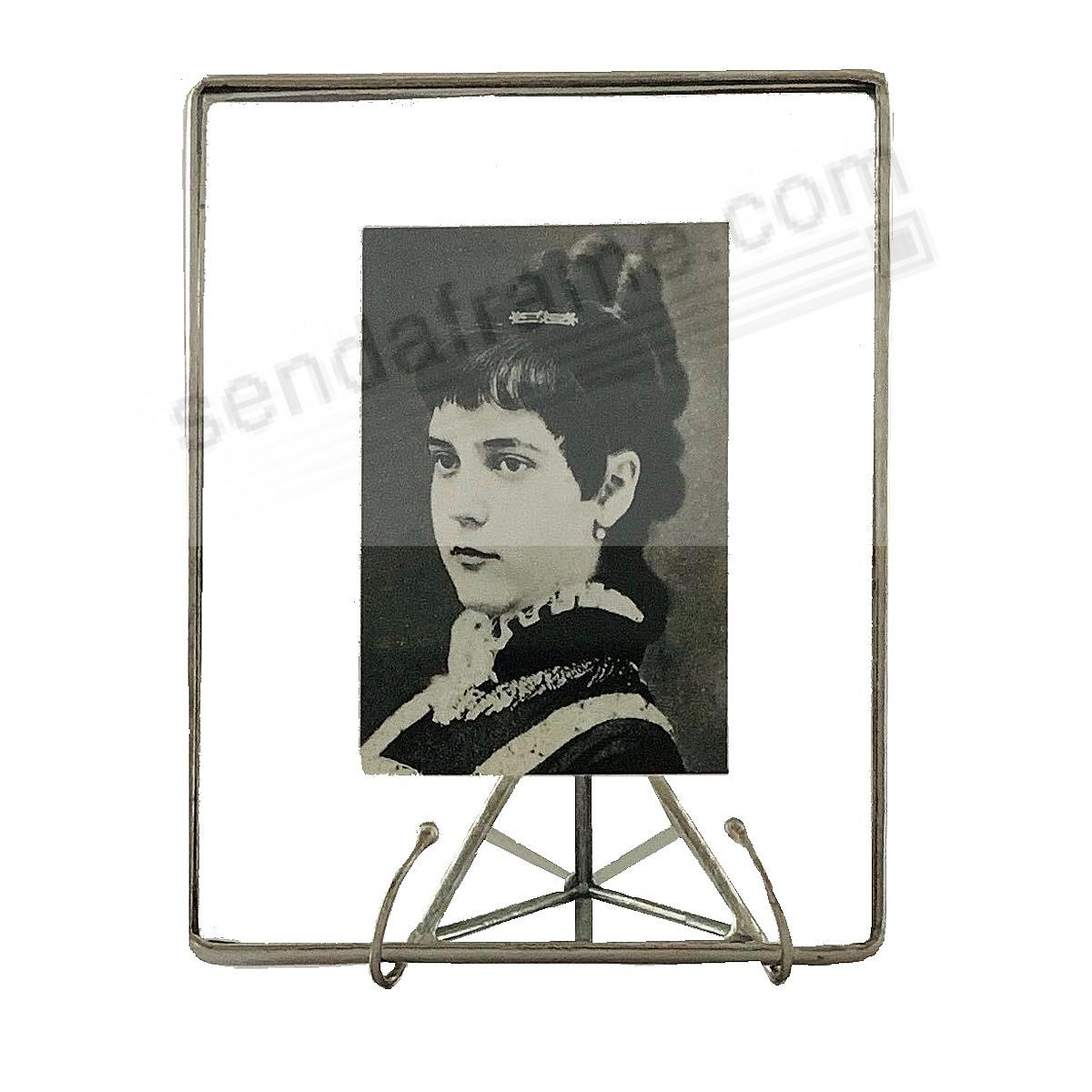 Clear Glass Float Frame 4x5/3x4 Silver by Bedford Downing®
