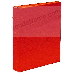 Saffiano-Red bonded-leather 2-up / 4-ring Album Binder (unfilled)<br>by Post Impressions&trade;