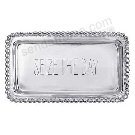 The original SEIZE THE DAY Statement Tray crafted by Mariposa®
