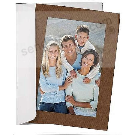 SIMPLICITY COCOA-BROWN Photo Insert Card (sold in 10s)