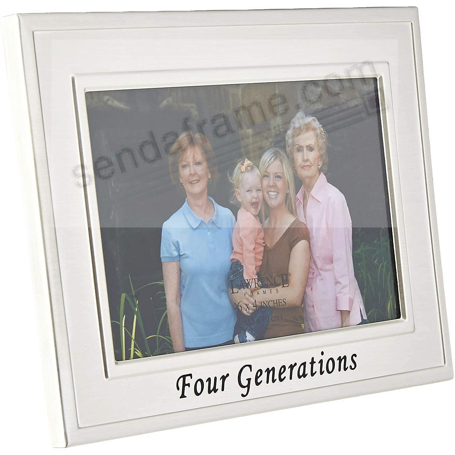Lawrence Frames® FOUR GENERATIONS Brushed Silver 6x4 frame - Picture ...