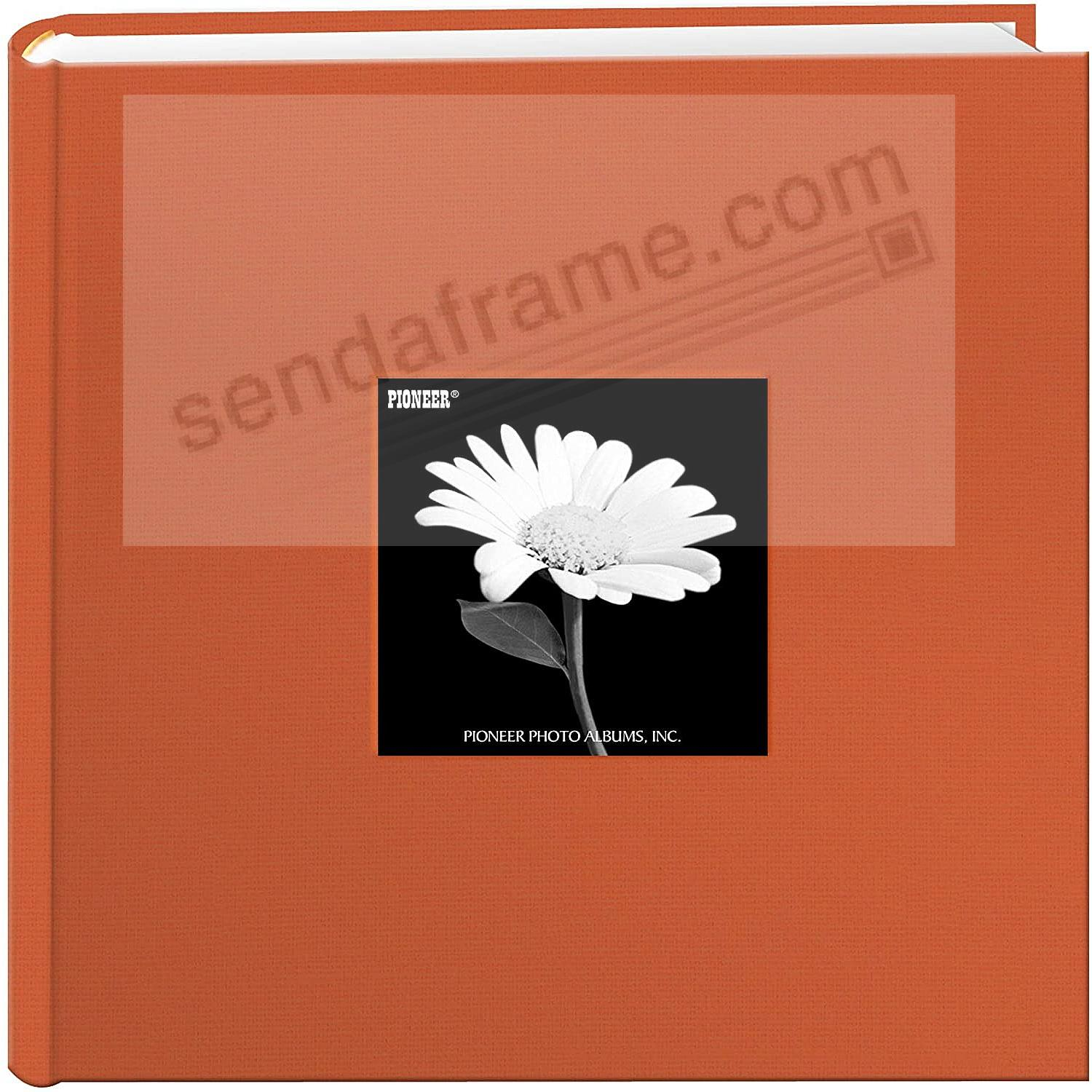 Tangerine-Orange cloth 2-up frame cover photo album by Pioneer®