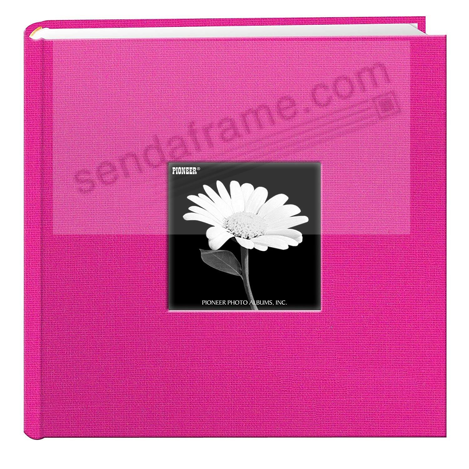 Bright-Pink cloth 2-up frame cover photo album by Pioneer®