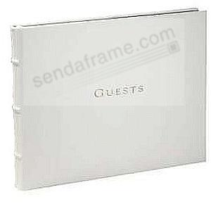 Soft White Calfskin Leather GUESTS for a lasting record by Graphic Image®