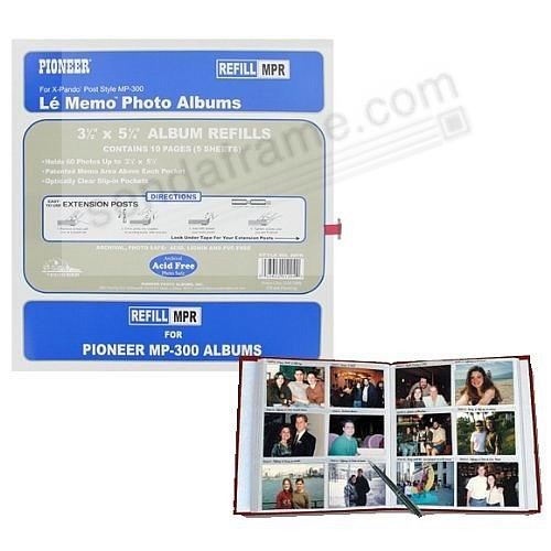 Genuine Pioneer® 12-at-a-time 3-1/2x5 white refills w/memo area