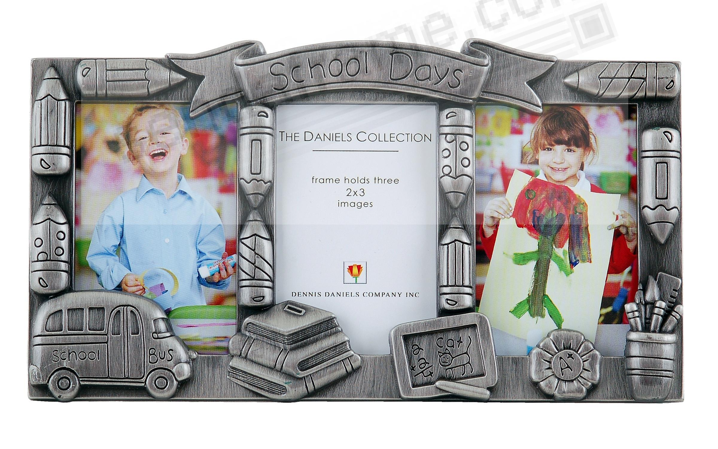 Pewter SCHOOL DAYS for 3 wallet-size prints by Dennis Daniels®