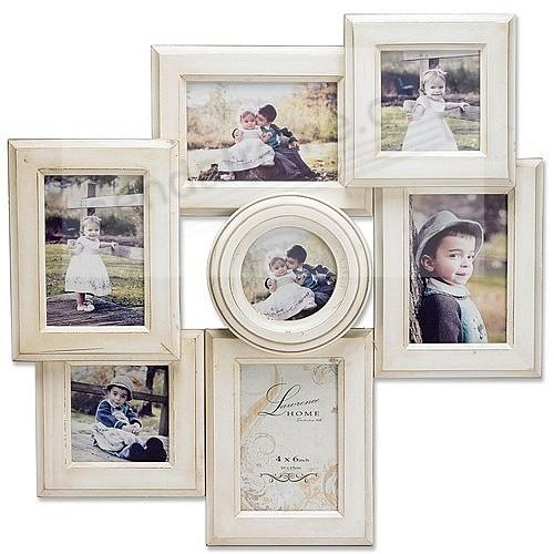 Lawrence Wall Collage Antique-White holds 7 prints - Picture Frames ...