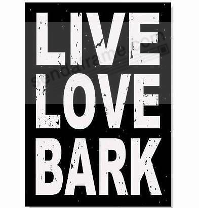 live love bark 5x7 distressed wood box sign by sixtrees picture