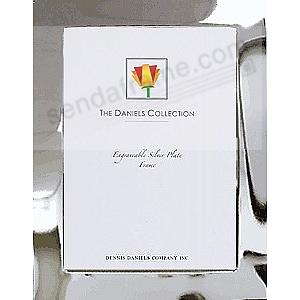 Dennis Daniels® ESSENTIALS 1-inch Polished Silverplate 8x10 frame is Perfect for Engraving!
