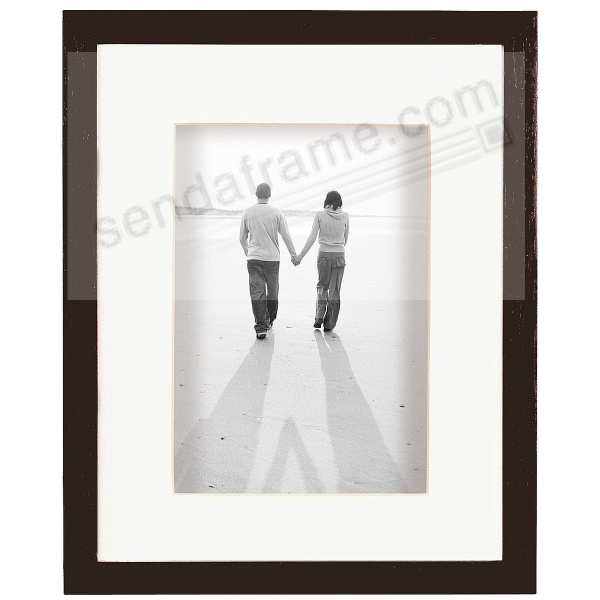 ART Walnut-Stain Shadow Box 11x14/8x10 frame w/ivory mat by MCS®