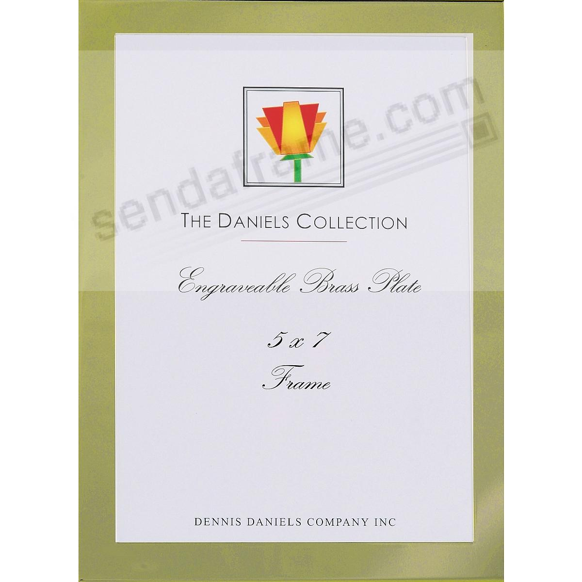 French Gold ½-inch Classic 5x7 frame by Dennis Daniels® - Engraveable!