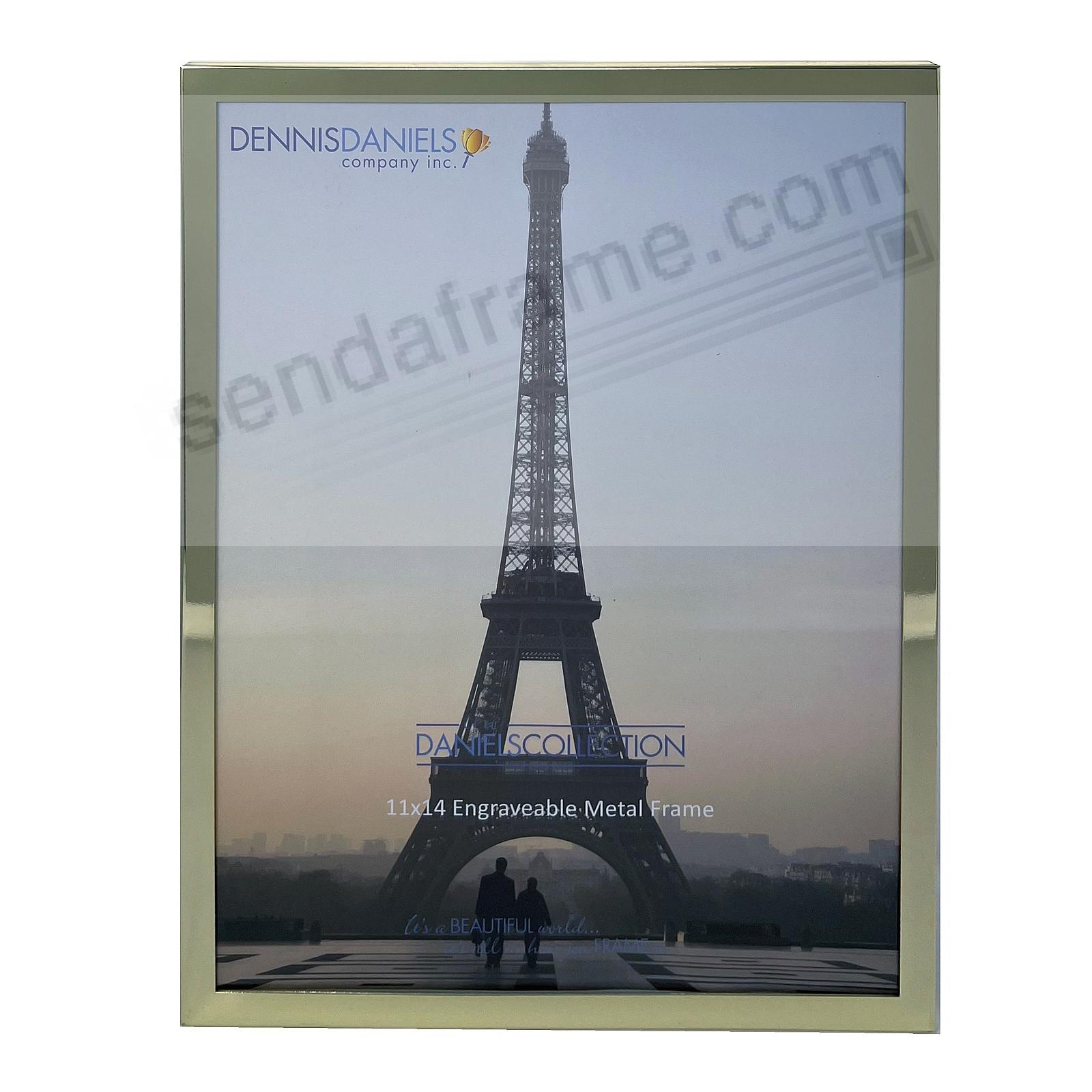 French Gold ½-inch Classic 11x14/10x13 frame by Dennis Daniels® - Engraveable!