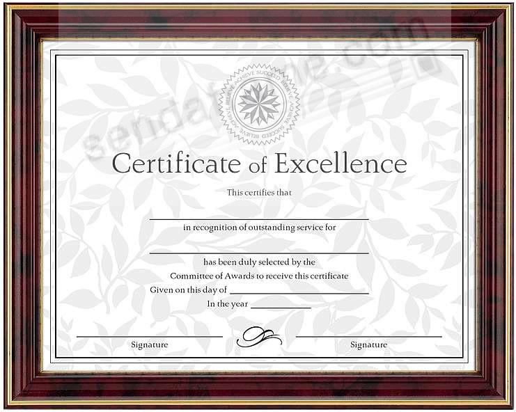 High-gloss Mahogany w/Gold trim certificate frame 11x8½ by DAX/Connoisseur®