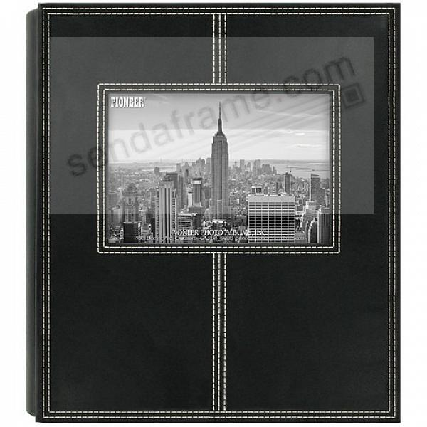 160-Pocket Black Leatherette Frame-Cover Photo Album by Pioneer®