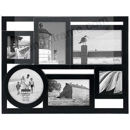 MONDRIAN Black Puzzle 6 multi-opening collage frame by Malden ...