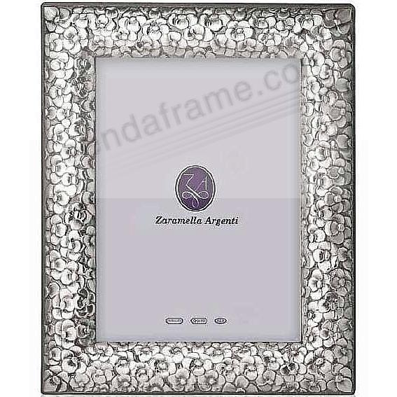 FIRENZE fine Italian sterling silver frame w/tooled floral handwork ...