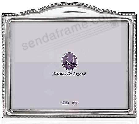SEVILLE Scallop-Top fine Sterling Silver polished frame by Zaramella Argenti®