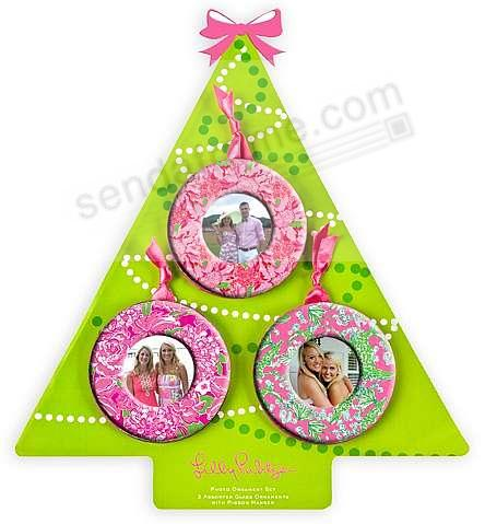 Photo Hanging Ornament Set Of 3 By Lilly Pulitzer Picture Frames