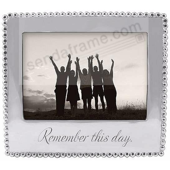 REMEMBER THIS DAY Statement frame crafted by Mariposa®