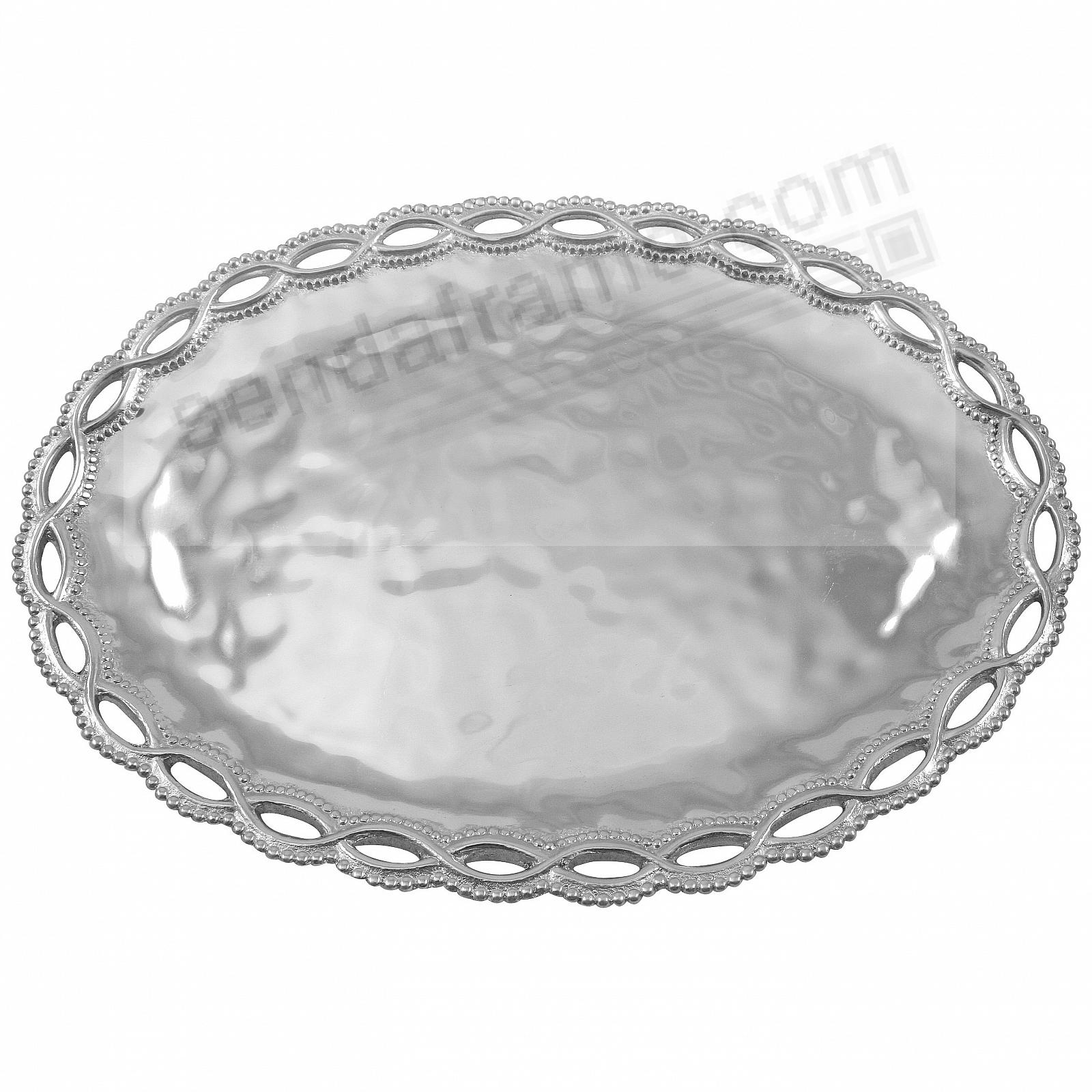 FILIGREE OVAL 14-in SERVER TRAY by Mariposa®