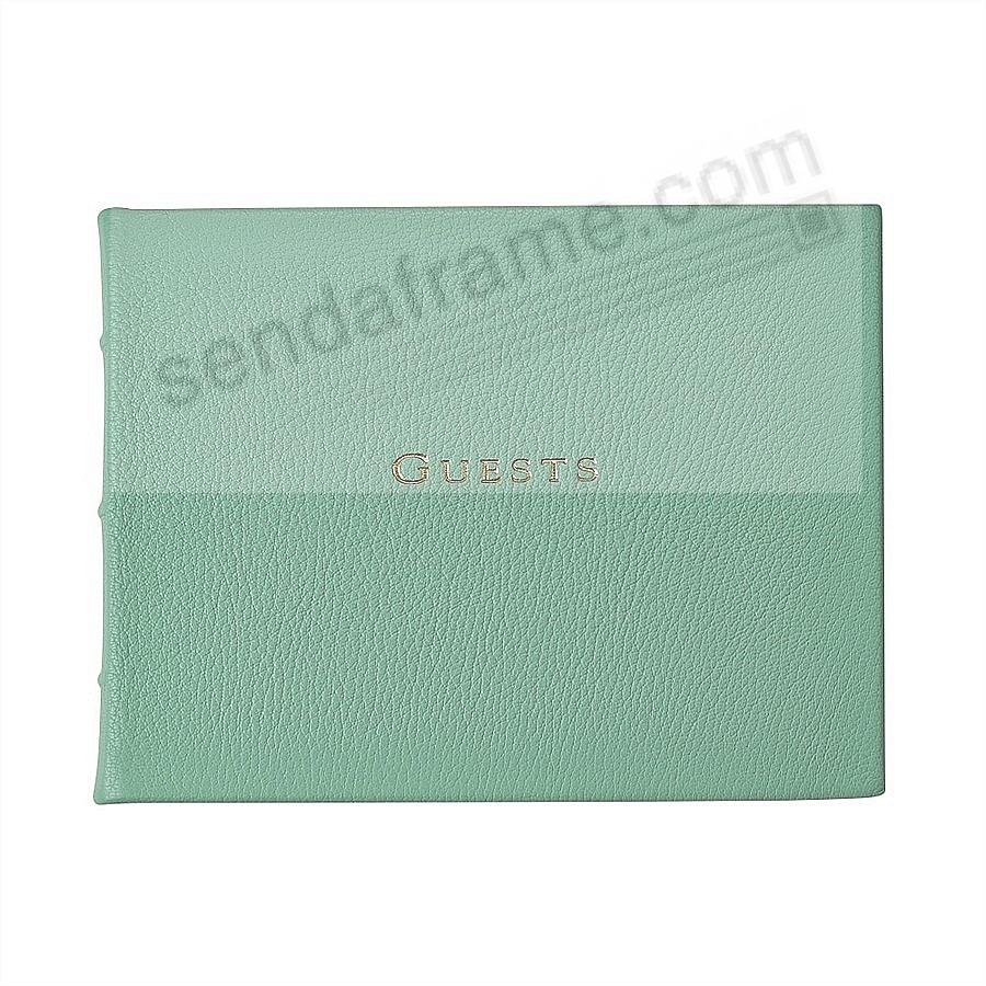 The GUEST BOOK in fine Robins-Egg-Blue Leather for a lasting record by Graphic Image®