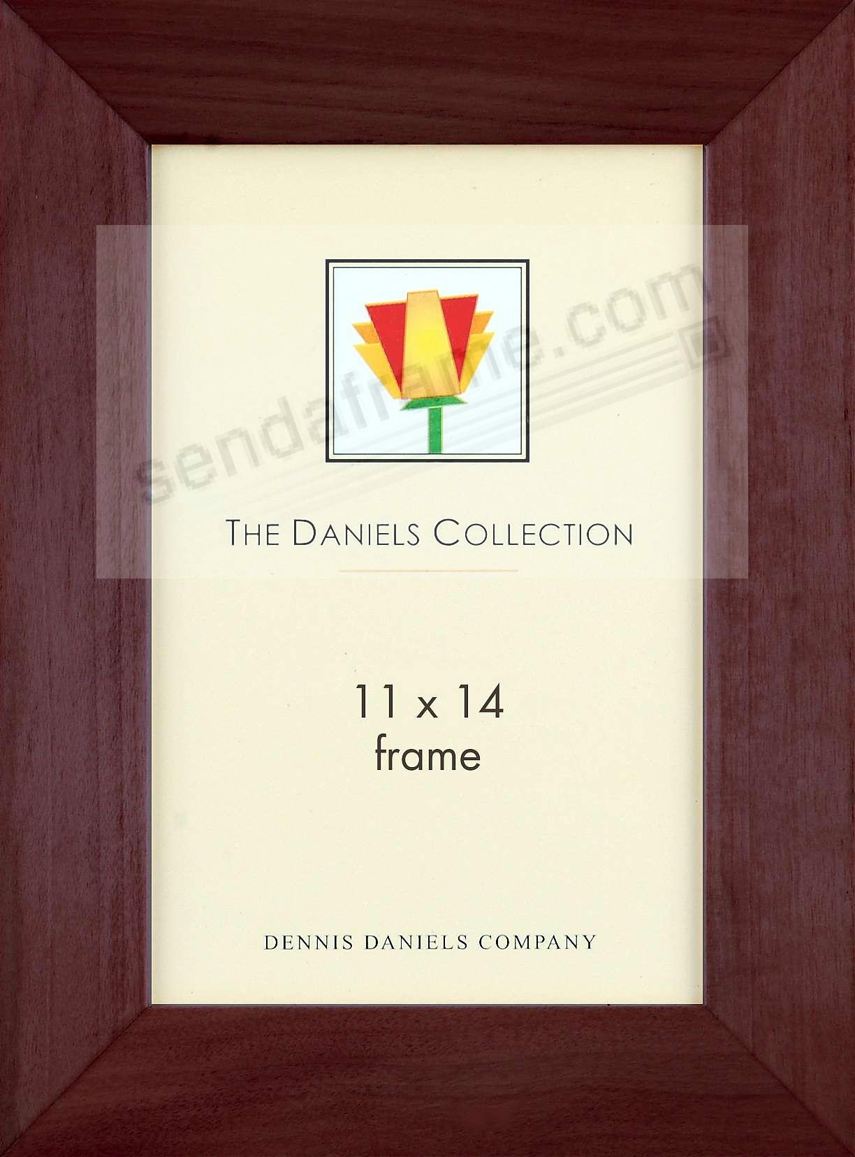 Rich dark walnut wood bevelled 11x14 classic by Dennis Daniels®