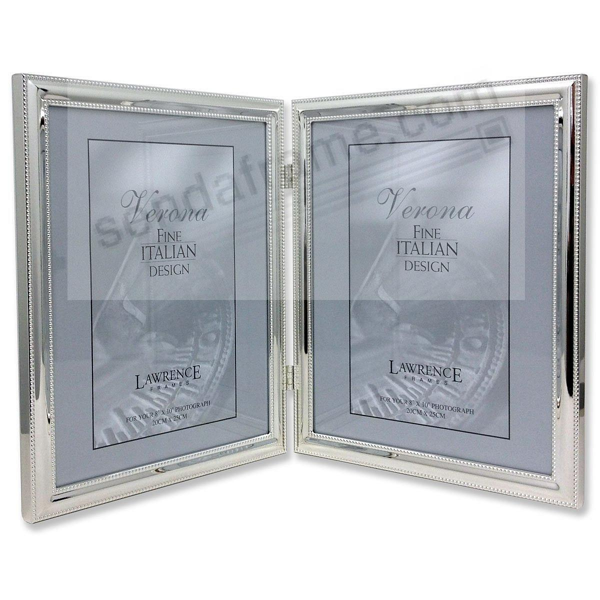 Polished silver DUO 8x10 hinged w/double bead trim