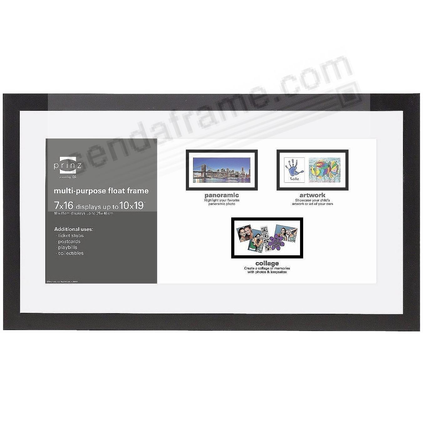crosby panoramic float ebony black frame 19x1016x7 by prinz usa
