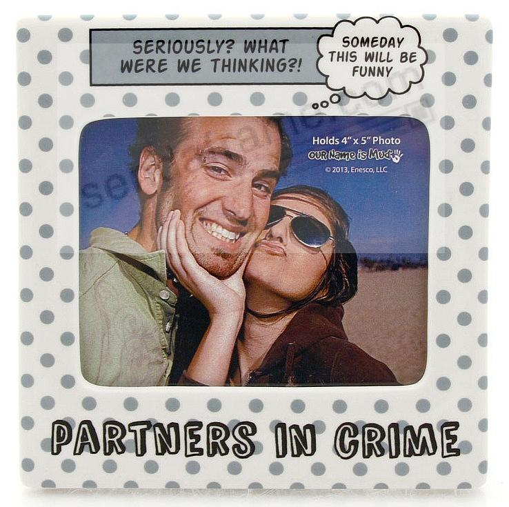 PARTNERS IN CRIME colorful ceramic picture frame by Our Name is Mud ...