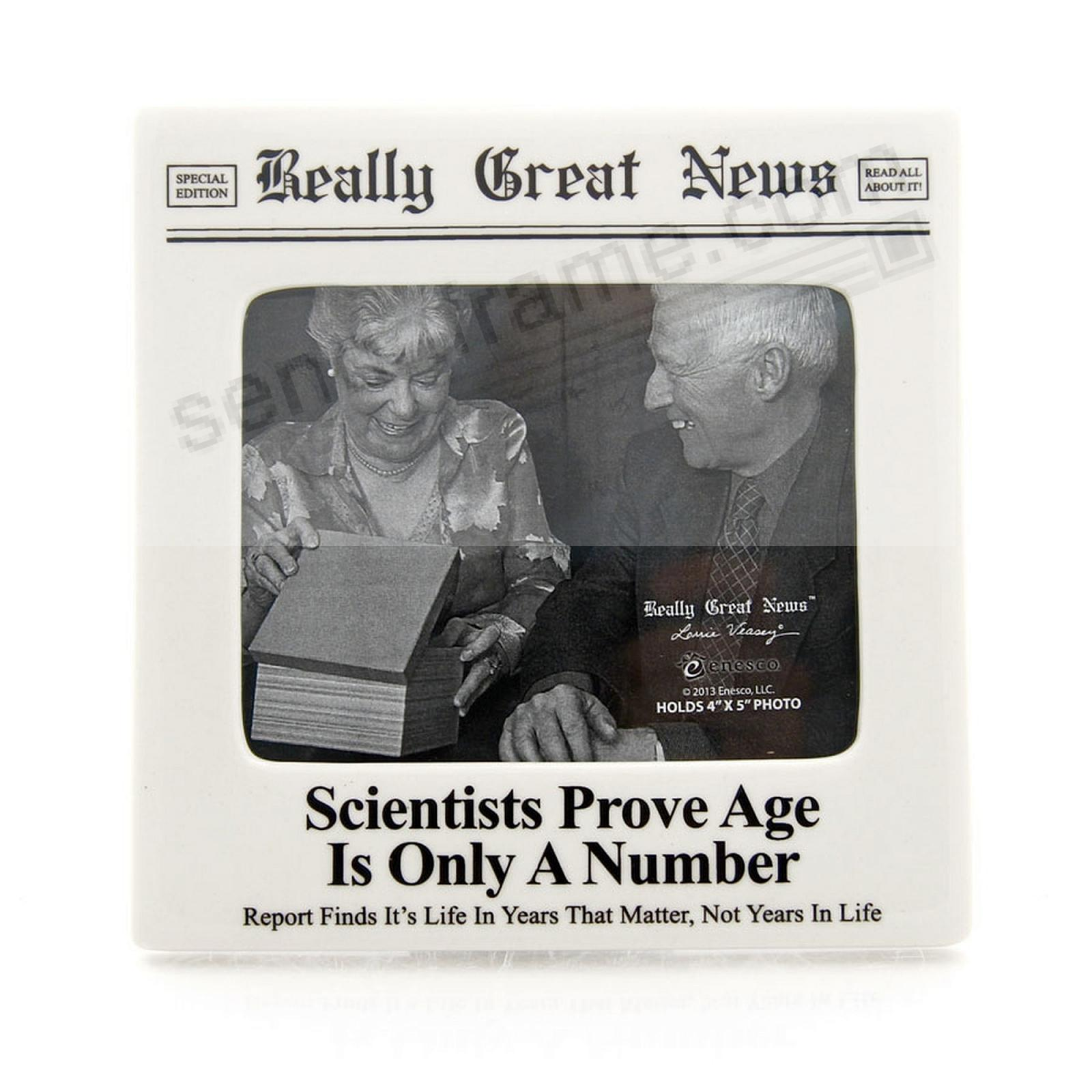 AGE IS ONLY A NUMBER frame by Really Great News®