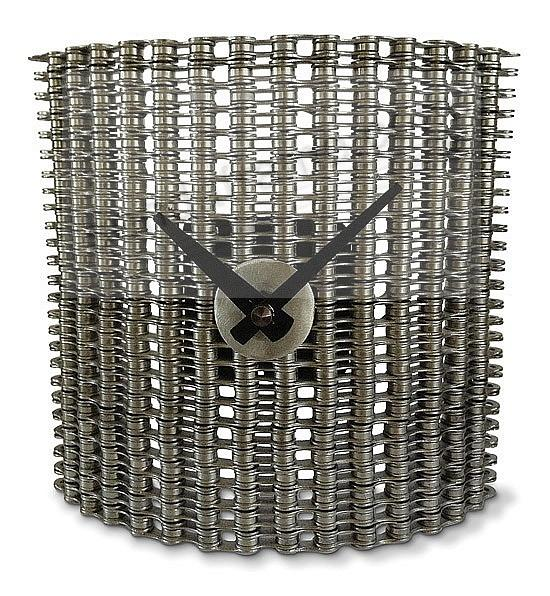 Recycled Bike Chain CURTAIN CLOCK by Resource Revival®