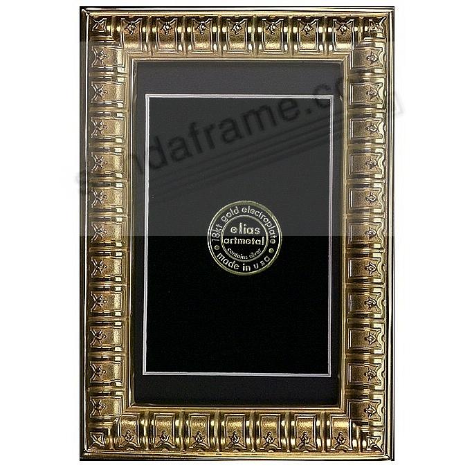 BIBLIOTHEQUE 18kt Museum Gold over fine Pewter 6x8/5x7 by Elias Artmetal®