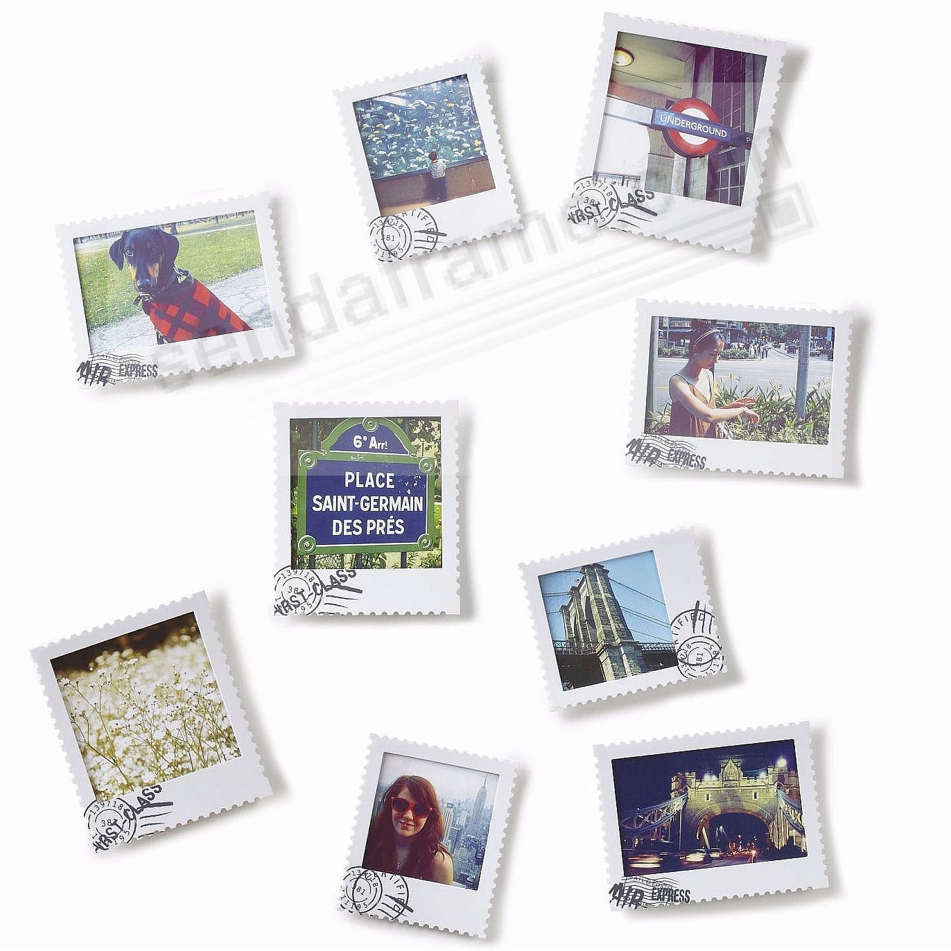 the original postal wall display frame set of 9 by umbra