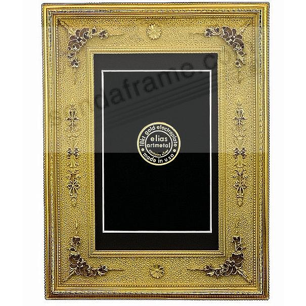 beaux arts 18kt museum gold over fine pewter 5x74x6 picture frame by elias artmetal - Museum Frames