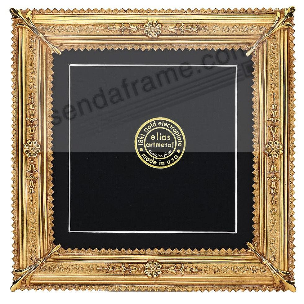 ROYALE 18kt Museum Gold Vermeil over Pewter 5x5/4x4 frame by Elias Artmetal®