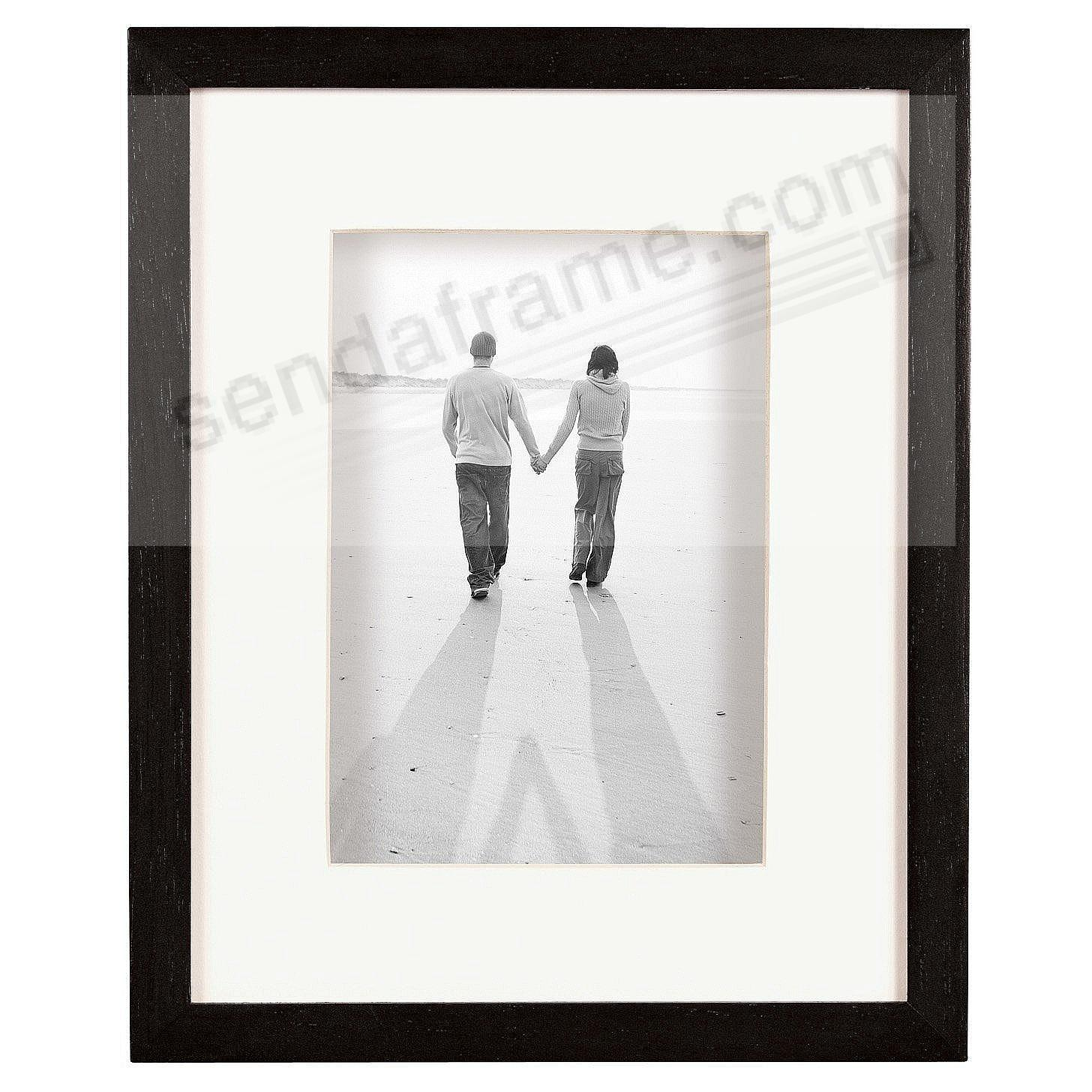ART Black-Stain Shadow Box 16x20/11x14 frame w/ivory mat by MCS®