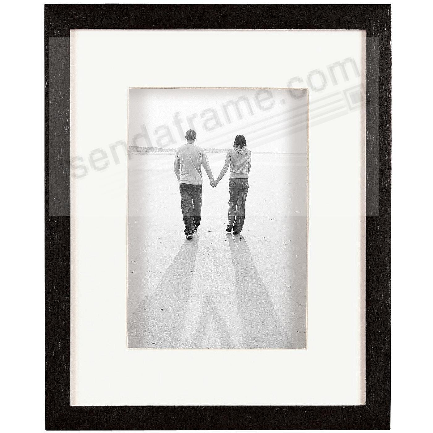 Dakota Black Stain Shadow Box 8x105x7 Frame Wivory Mat By Mcs