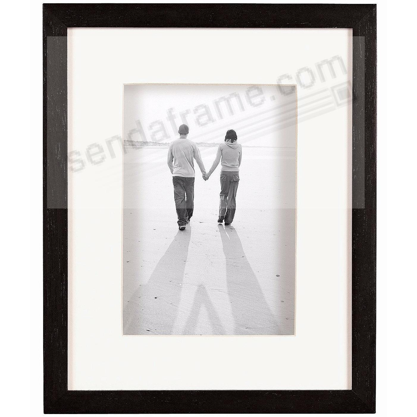 Dakota Black Shadow Box 11x14/8x10 frame w/ivory mat by MCS®
