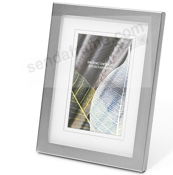 The Original PARKER Brushed Nickel matted 4x6/5x7 frame by Swing ...