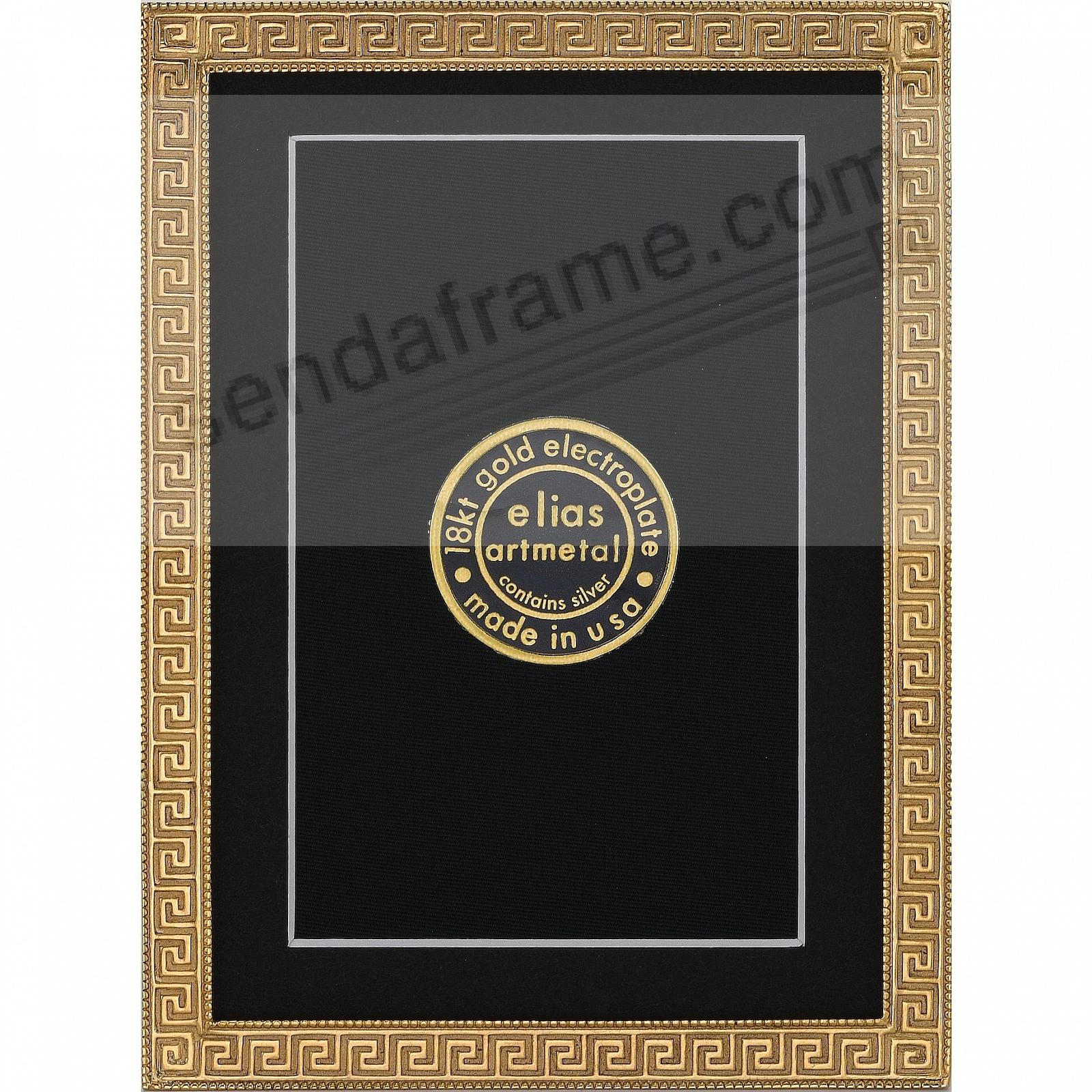 GREEK KEY 18kt Museum Gold over Fine Pewter 3½x5½ frame by Elias Artmetal®