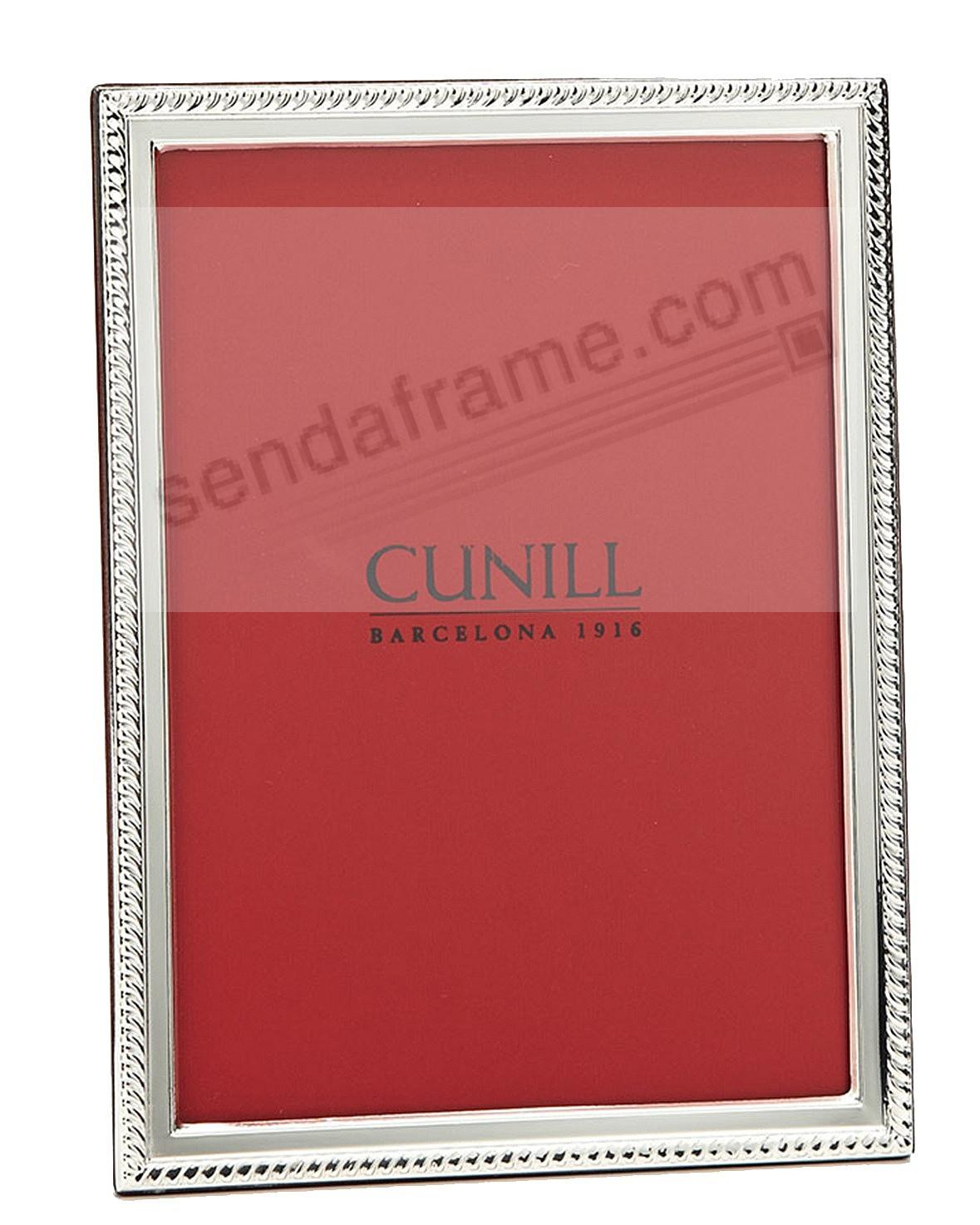SLIM CORD Fine .925 Sterling Silver 4x6 frame by Cunill®