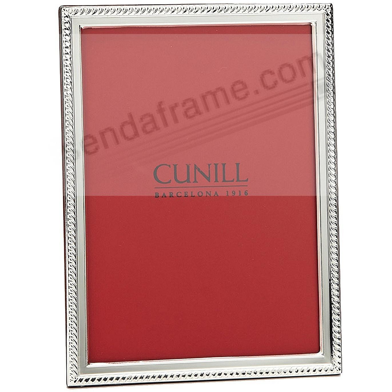 SLIM CORD Fine .925 Sterling Silver 5x7 frame by Cunill®
