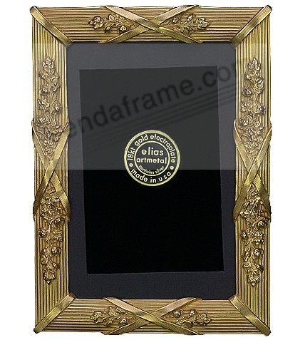 LOUIS XIV 18kt Museum Gold over Fine Pewter 4x6/3x5 frame by Elias Artmetal®