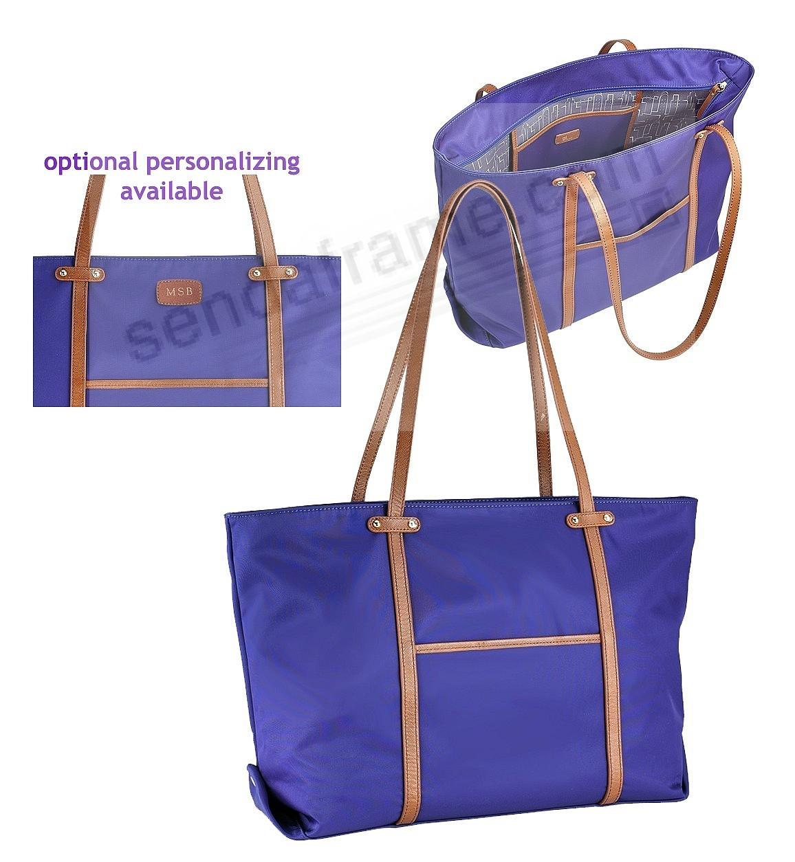 The Original UNION TOTE crafted in Cobalt-Blue Nylon and Soft Leather by Graphic Image™