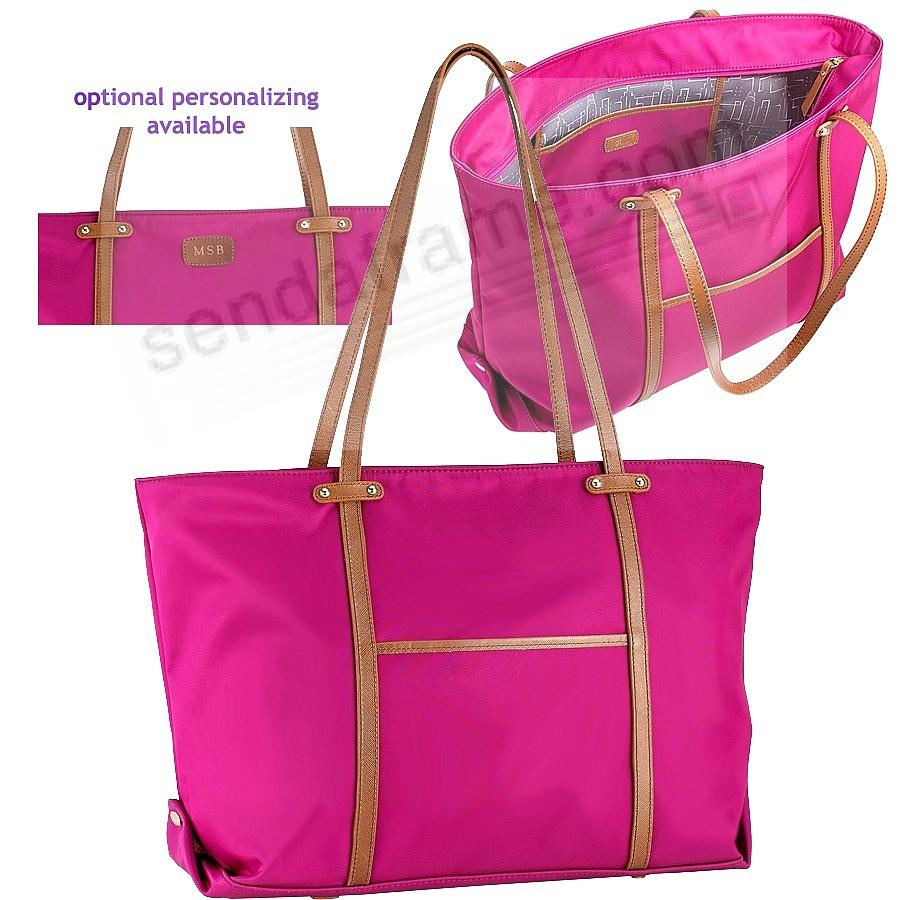 The Original UNION TOTE Pink Nylon and Soft Leather by Graphic Image™