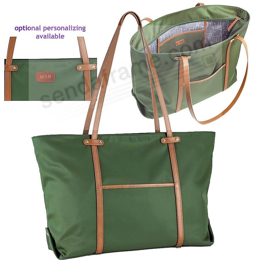 The Original UNION TOTE Emerald-Green Nylon and Soft Leather by Graphic Image™